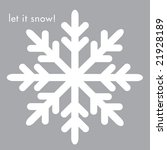 white graphic snowflake on...   Shutterstock . vector #21928189