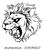 a powerful lion animal mascot... | Shutterstock . vector #219290617