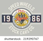 speed wheels racing team  ... | Shutterstock .eps vector #219290767