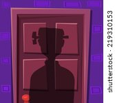halloween door shadow with... | Shutterstock .eps vector #219310153