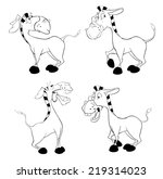 a set of burros. coloring book