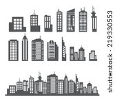building collection | Shutterstock .eps vector #219330553