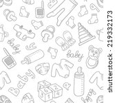 vector doodle seamless pattern...