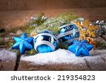 christmas decoration over... | Shutterstock . vector #219354823