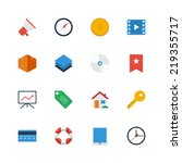 set of flat vector icons. icons ...