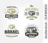 set of vintage badge  label ... | Shutterstock .eps vector #219385603