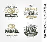 Set Of Vintage Badge  Label ...