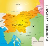 vector color map of slovenia | Shutterstock .eps vector #219392647