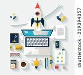startup concept. flat design. | Shutterstock .eps vector #219394357
