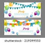 vector illustration of party... | Shutterstock .eps vector #219399553