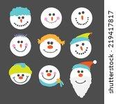 vector illustration of various... | Shutterstock .eps vector #219417817