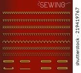 stitches sewing machine | Shutterstock .eps vector #219419767