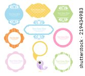 cute floral frame set | Shutterstock .eps vector #219434983