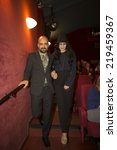 Small photo of Amsterdam, The Netherlands - 14/08/2014: opening of World Cinema Amsterdam film festival held from 14 to 24/08/2014.Interview of directors Ronit and Shlomi Elkabetz, at the premiere of their film Gett