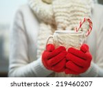 Woman Holding Winter Cup Close...