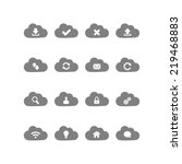 cloud computing icons. vector... | Shutterstock . vector #219468883