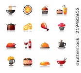 food and drinks colorful icons | Shutterstock .eps vector #219482653