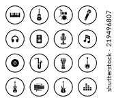 music icons | Shutterstock .eps vector #219496807