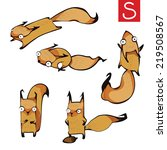 set of squirrels cartoon.... | Shutterstock .eps vector #219508567