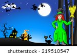 vector illustration of witches... | Shutterstock .eps vector #219510547