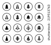 christmas tree icon set | Shutterstock .eps vector #219513763