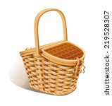 basket for picnic. eps10 vector ... | Shutterstock .eps vector #219528307