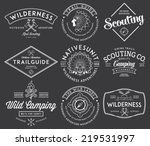 scouting vector badges and... | Shutterstock .eps vector #219531997