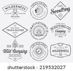 scouting vector badges and... | Shutterstock .eps vector #219532027