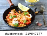 Paella With Rice And Seafood ...