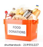 donation box with food isolated ... | Shutterstock . vector #219551227