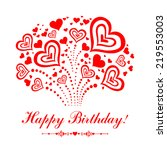 happy birthday card.... | Shutterstock .eps vector #219553003