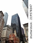 downtown boston on a white... | Shutterstock . vector #219578347
