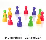 board game pieces symbol for... | Shutterstock . vector #219585217