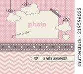 baby shower invitation ... | Shutterstock .eps vector #219596023