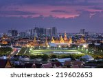 royal grand palace at twilight... | Shutterstock . vector #219602653