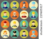 set of colorful people... | Shutterstock .eps vector #219605317