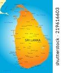 vector color map of sri lanka   Shutterstock .eps vector #219616603