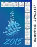 2015 new calendar vector... | Shutterstock .eps vector #219616687