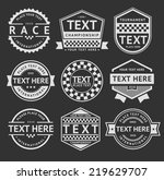 racing insignia set  vintage... | Shutterstock .eps vector #219629707