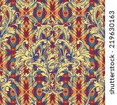 eclectic fabric seamless... | Shutterstock .eps vector #219630163