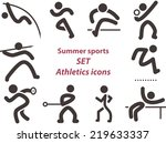summer sports icons    set of... | Shutterstock .eps vector #219633337