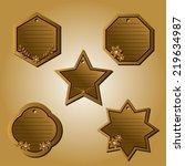 a set shape labels. card... | Shutterstock .eps vector #219634987
