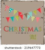 christmas sale template with... | Shutterstock .eps vector #219647773
