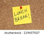 lunch break   Shutterstock . vector #219657037