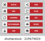 flat red buttons set 2