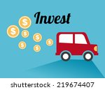 invest graphic design   vector... | Shutterstock .eps vector #219674407