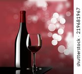 Red Wine And Bokeh Vector