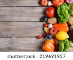 fresh organic fruits and... | Shutterstock . vector #219691927