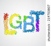 word lgbt made from little... | Shutterstock .eps vector #219703807