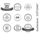 set of e commerce sale labels ...   Shutterstock . vector #219713467